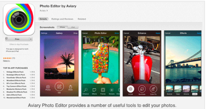 Aviary - 5 Useful Instagram Picture Apps