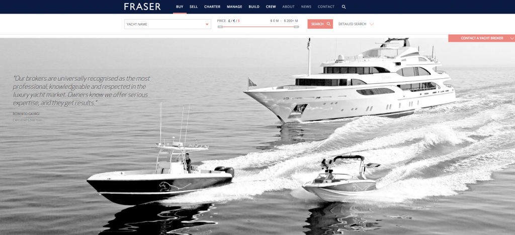 fraseryachts.com website design by relevance