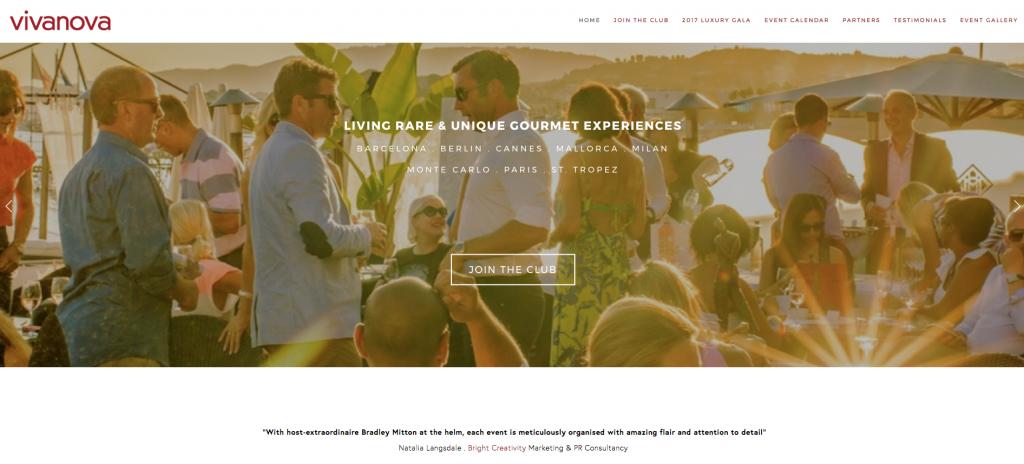 website development relevance club vivanova