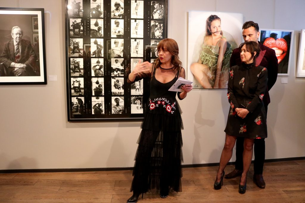Helen McCrory speaking at Art exhibition fundraiser