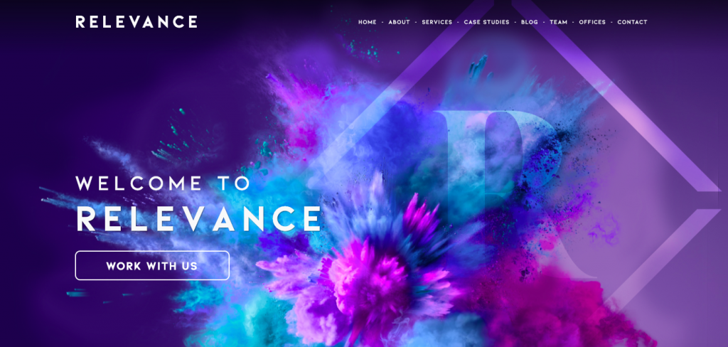 Relevance's rebrand saw our brand colour change to purple