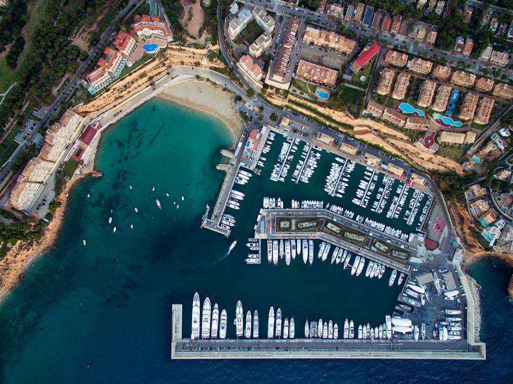 Yachts in Port Adriana, Palma, Mallorca