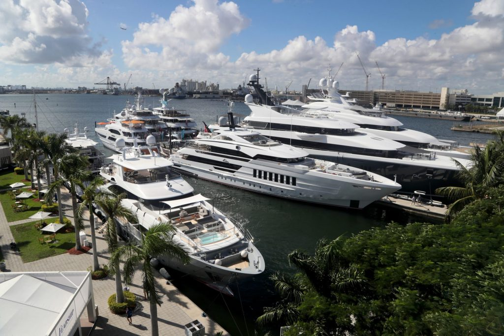 Vida and Book ends at FLIBS 2019 by the Superyacht Village
