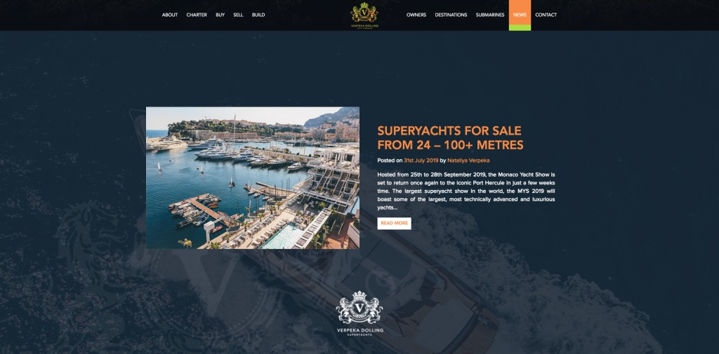 Verpeka Dolling yacht selling website blog content